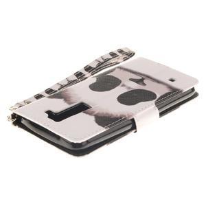 Style PU kožené puzdro pre LG K8 - panda - 5