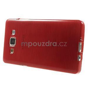 Brúsený gélový obal Samsung Galaxy A5 - červený - 5
