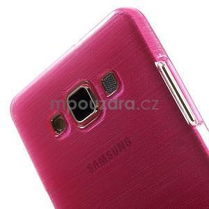 Broušený gélový obal Samsung Galaxy A5 - rose - 5