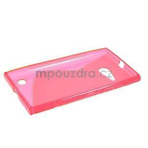 Gélový s-line obal pre Nokia Lumia 730 a Lumia 735 - ružový - 5