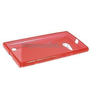 Gélový s-line obal na Nokia Lumia 730 a Lumia 735 - červený - 5
