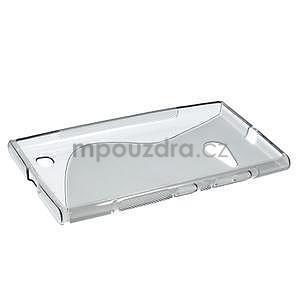 Gélový s-line obal pre Nokia Lumia 730 a Lumia 735 - sivý - 5