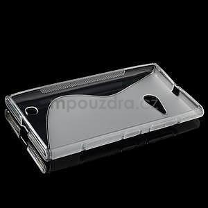 Gélový s-line obal pre Nokia Lumia 730 a Lumia 735 - transparentný - 5