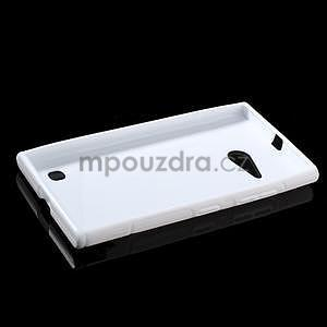 Gélový s-line obal na Nokia Lumia 730 a Lumia 735 - biely - 5
