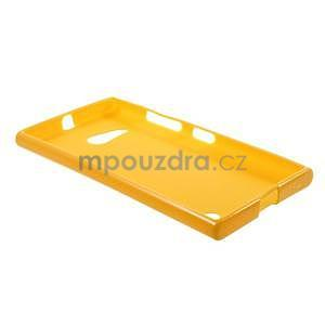 Gélový obal pre Nokia Lumia 730 a Lumia 735 - žltý - 5