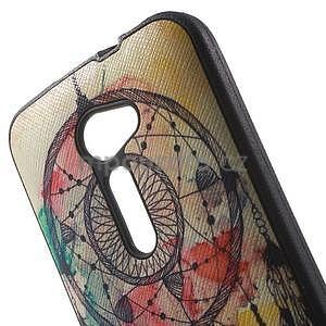 Gélový obal s imitáciou vrúbkované kože pre Asus Zenfone 2 ZE500CL -  dream - 5