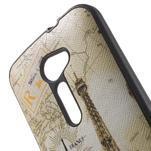 Gélový obal s imitáciou vrúbkované kože na Asus Zenfone 2 ZE500CL - Eiffelova veža - 5/5