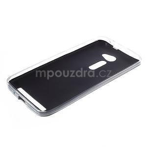 Gélový kryt s imitáciou kože Asus Zenfone 2 ZE500CL - čierny - 5