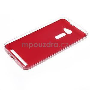 Gélový kryt s imitáciou kože Asus Zenfone 2 ZE500CL -  červený - 5