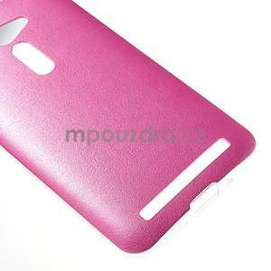 Gélový kryt s imitáciou kože Asus Zenfone 2 ZE500CL - rose - 5