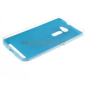 Gélový kryt s imitáciou kože Asus Zenfone 2 ZE500CL - modrý - 5