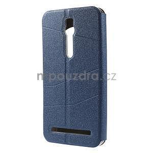 Modré klopové puzdro s okienkom na Asus Zenfone 2 ZE551ML - 5
