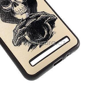 Gélový kryt s imitáciou vrúbkované kože pre Asus Zenfone 2 ZE551ML - smrtka - 5