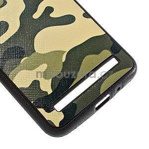 Gélový kryt s imitáciou vrúbkované kože pre Asus Zenfone 2 ZE551ML - vojenský - 5