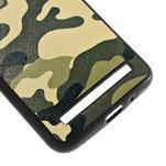 Gélový kryt s imitáciou vrúbkované kože pre Asus Zenfone 2 ZE551ML - vojenský - 5/5