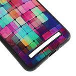 Gélový kryt s imitáciou vrúbkované kože pre Asus Zenfone 2 ZE551ML -  mozaika farieb - 5/5