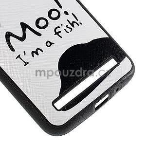 Gélový kryt s imitáciou vrúbkované kože pre Asus Zenfone 2 ZE551ML -  fish - 5
