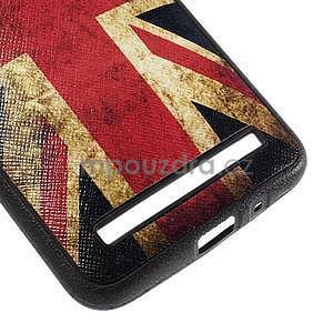 Gélový kryt s imitáciou vrúbkované kože pre Asus Zenfone 2 ZE551ML -   UK vlajka - 5
