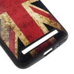 Gélový kryt s imitáciou vrúbkované kože pre Asus Zenfone 2 ZE551ML -   UK vlajka - 5/5