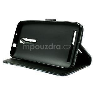 Zapínacie peňaženkové puzdro na Asus Zenfone 2 ZE551ML - modrý motýľ - 5