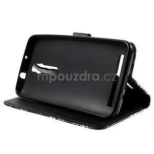 Zapínacie peňaženkové puzdro pre Asus Zenfone 2 ZE551ML - motýľik - 5