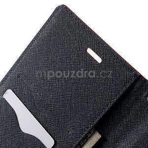 Zapínacie PU kožené puzdro na Asus Zenfone 2 ZE551ML - červené - 5
