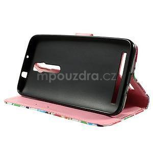 Zapínacie peňaženkové puzdro na Asus Zenfone 2 ZE551ML - sovičky - 5
