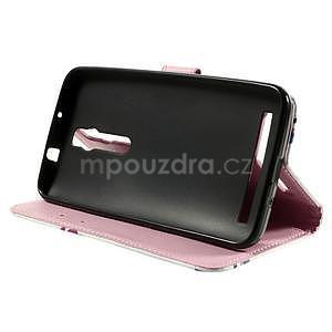 Zapínacie peňaženkové puzdro na Asus Zenfone 2 ZE551ML - kvetiny - 5