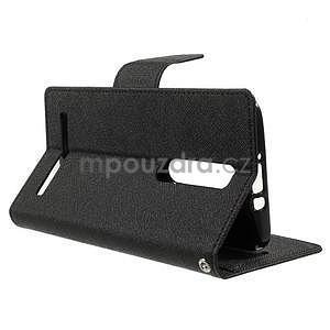 Zapínacie PU kožené puzdro na Asus Zenfone 2 ZE551ML - čierne - 5