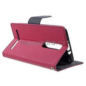 Zapínacie PU kožené puzdro na Asus Zenfone 2 ZE551ML - rose - 5