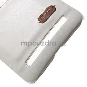 Biely PU kožený / plastový kryt na Asus Zenfone 2 ZE551ML - 5