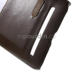 Hnedý PU kožený/plastový kryt pre Asus Zenfone 2 ZE551ML - 5