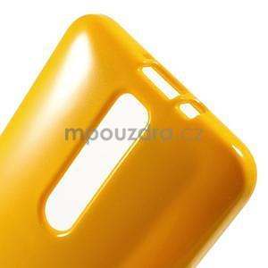 Gélový obal na Asus Zenfone 2 ZE551ML - žltý - 5