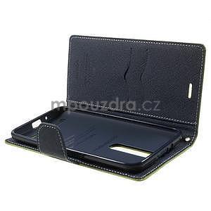 Zapínacie PU kožené puzdro na Asus Zenfone 2 ZE551ML - zelené - 5