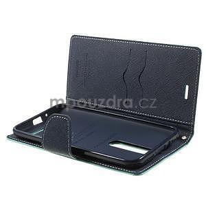 Zapínacie PU kožené puzdro na Asus Zenfone 2 ZE551ML - azúrové - 5