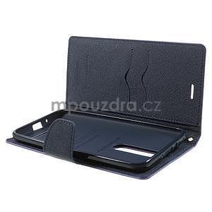 Zapínacie PU kožené puzdro na Asus Zenfone 2 ZE551ML -  fialové - 5