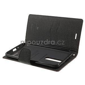 Zapínacie PU kožené puzdro pre Asus Zenfone 2 ZE551ML - hnedé - 5