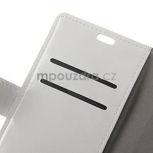 Crazy PU kožené puzdro na mobil Asus Zenfone 4 Selfie Pro ZD552KL - biele - 5