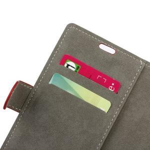 Zapínacie PU kožené puzdro na Asus Zenfone 4 Selfie Pro ZD552KL - červené - 5