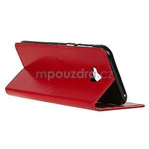 Crazy PU kožené puzdro na mobil Asus Zenfone 4 Selfie Pro ZD552KL - červené - 5