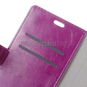 Crazy PU kožené puzdro na mobil Asus Zenfone 4 Selfie Pro ZD552KL - fialové - 5