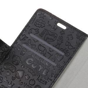 Cartoo knižkové puzdro na Asus Zenfone 4 Selfie Pro ZD552KL - čierne - 5