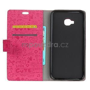 Cartoo knižkové puzdro na Asus Zenfone 4 Selfie Pro ZD552KL - rose - 5