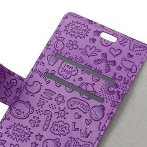 Cartoo knižkové puzdro na Asus Zenfone 4 Selfie Pro ZD552KL - fialové - 5