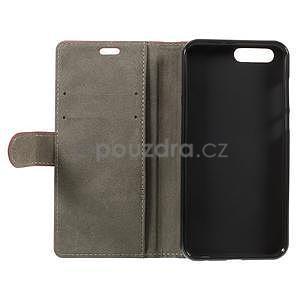 Knižkové PU kožené puzdro na Asus Zenfone 4 ZE554KL - rose - 5