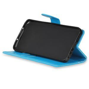 Skiny PU kožené zapínacie puzdro na Asus Zenfone 4 ZE554KL - modré - 5