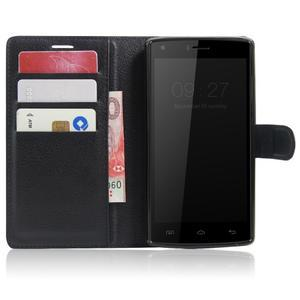 Wallet PU kožené puzdro na Doogee X5 Max/X5 Max Pro - čierne - 5