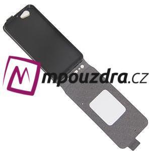 Flipové PU kožené puzdro pre mobil HTC One A9s - červené - 5