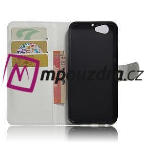 Graines PU kožené puzdro pre HTC One A9s - biele - 5
