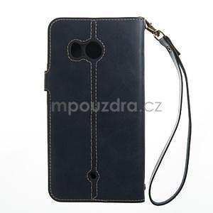 RetroStyle PU kožené puzdro na HTC U11 - modré - 5